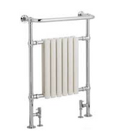 673mm x 230mm x 963mm Traditional Radiator - Chrome & White