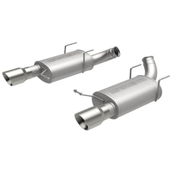 MagnaFlow 11-14 Ford Mustang V8 5.0L Dual Split Rear Exit Stainless Cat Back Performance Exhaust