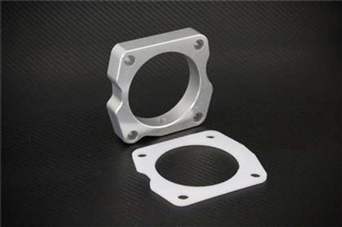 Torque Solution Throttle Body Spacer (Silver): Acura TSX 2009+ 2.4L