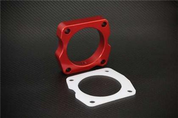 Torque Solution Throttle Body Spacer (Red): Acura TSX 2009+ 2.4L