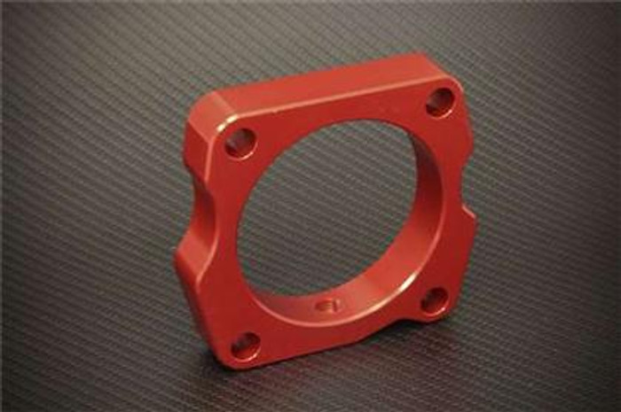 Torque Solution Throttle Body Spacer (Red): Acura TSX V6 2010+
