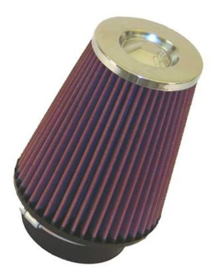 "K&N Filter Universal Rubber Filter 3"" Flange ID 6"" Base OD 5.125"" Top OD 5"" Height"