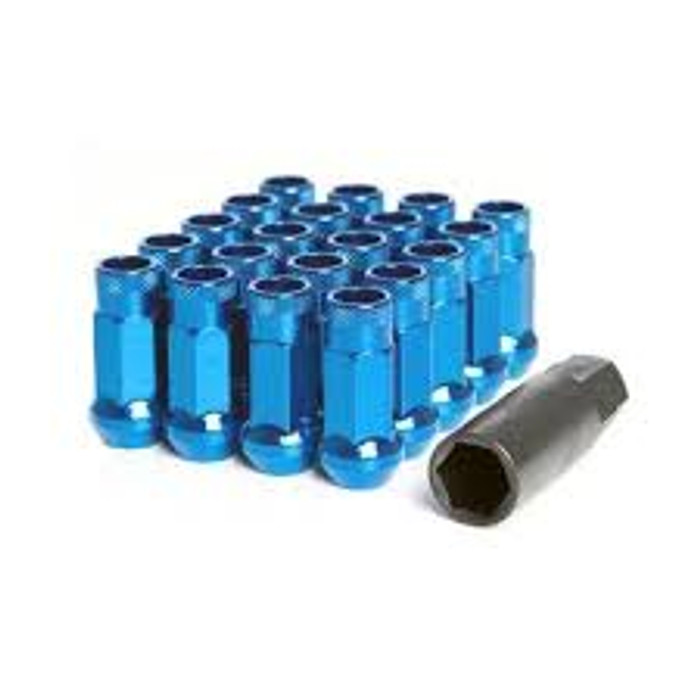 Wheel Mate Muteki SR48 Open End Lug Nuts - Blue 12x1.50 48mm