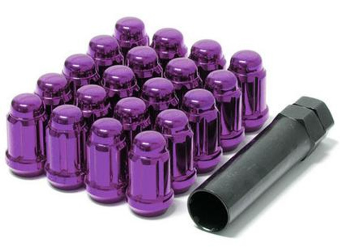 Wheel Mate Muteki Closed End Lug Nuts - Purple 12x1.50