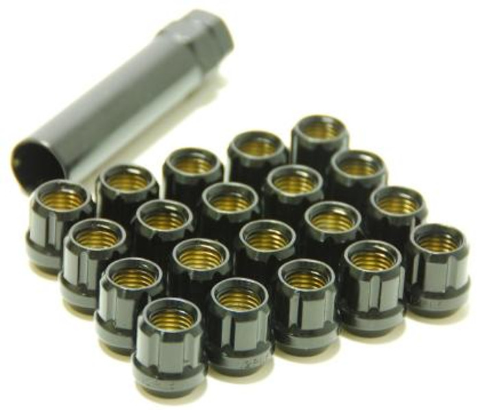 Wheel Mate Muteki Open End Lug Nuts - Deep Black 12x1.50