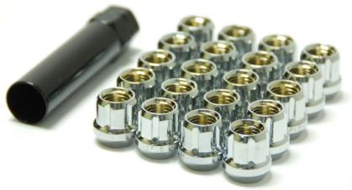 Wheel Mate Muteki Open End Lug Nuts - Chrome 12x1.25