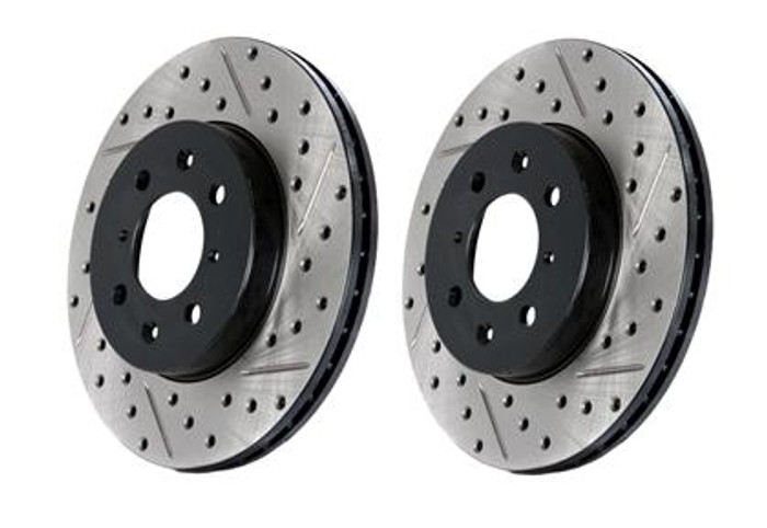 Stop Tech 04-08 Acura TL (Brembo Caliber) SportStop Slotted & Drilled Right Front Rotor ONLY