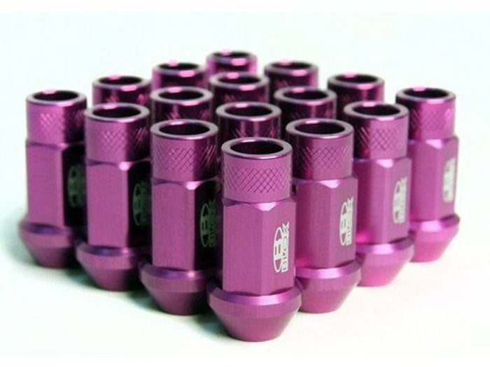 BLOX Racing Street Series Forged Lug Nuts - Purple 12 x 1.5mm - Set of 20