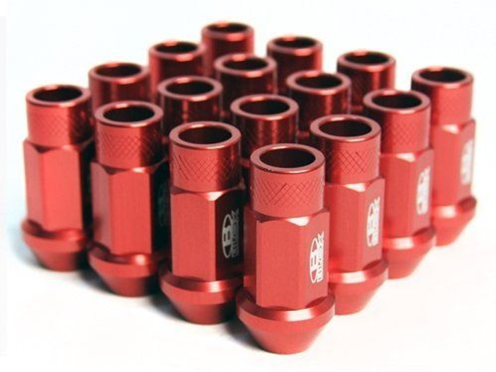 BLOX Racing Street Series Forged Lug Nuts - Red 12 x 1.5mm - Set of 20