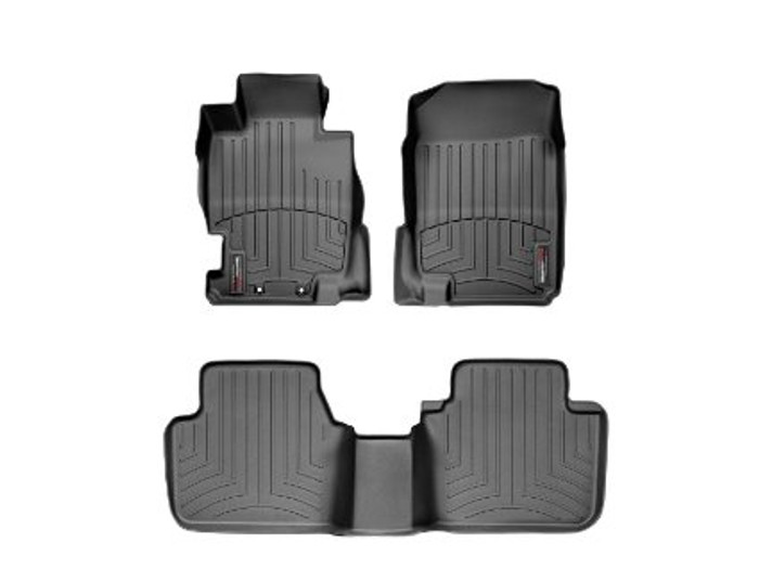 WeatherTech 04-08 Acura TL Front and Rear Floorliners - Black