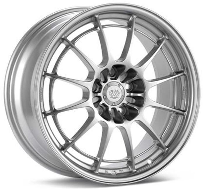 Enkei NT03+M 18x8 5x100 35mm Offset 72.6mm Bore Silver Wheel