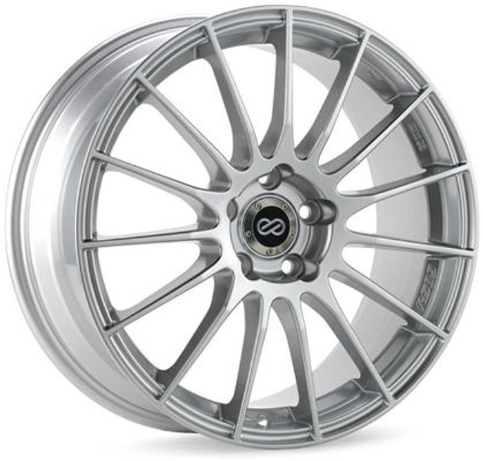 Enkei RS05-RR 18x11 30mm Offset 5x120 Bolt Pattern 72.5 Bore Sparkle Silver Wheel