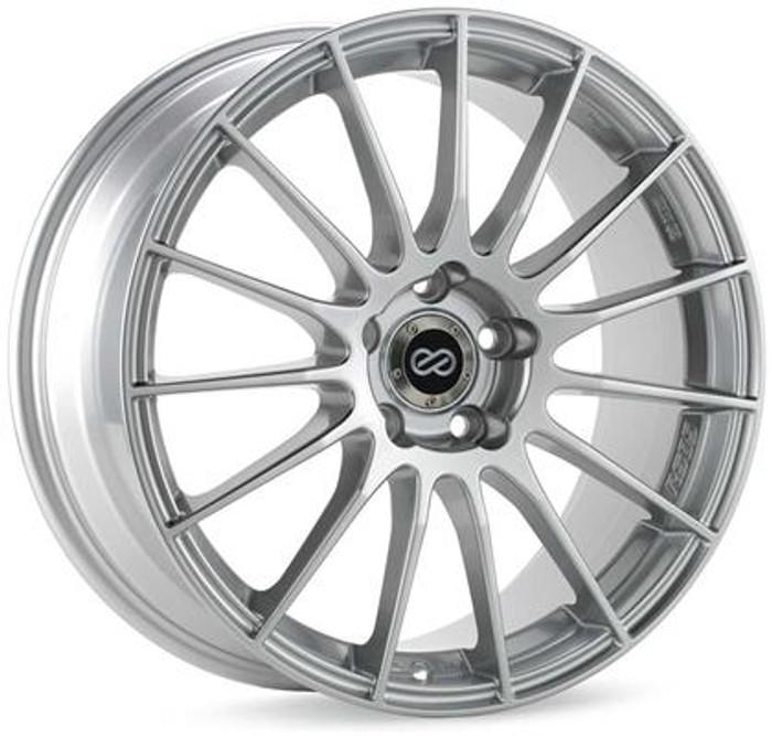 Enkei RS05-RR 18x9 50mm Offset 5x120 Bolt Pattern 72.5 Bore Sparkle Silver Wheel