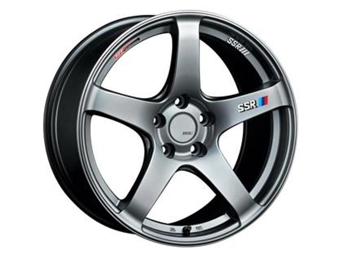 SSR GTV01 16x5.5 4x100 48mm Offset Phantom Silver Wheel
