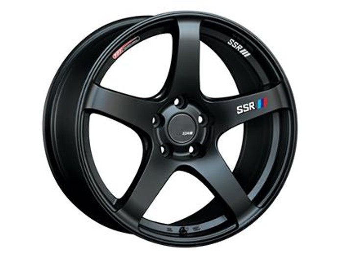 SSR GTV01 17x7.0 4x100 50mm Offset Flat Black Wheel