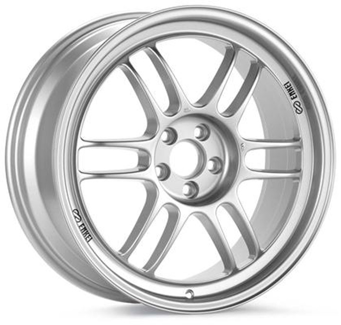 Enkei RPF1 16x8 5x114.3 25mm Offset 73mm Bore Diameter Silver Wheel