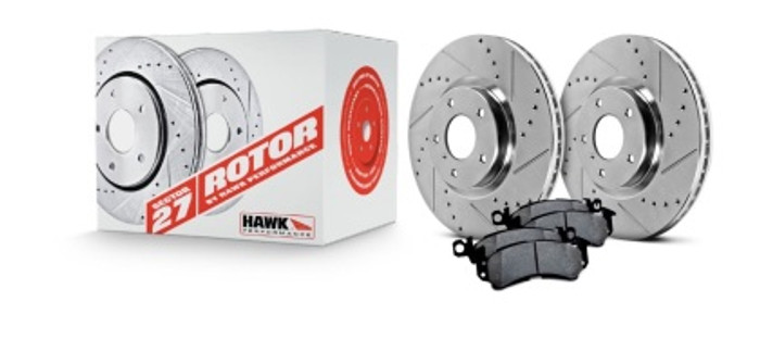 Hawk sector 27 rotors and B code pads