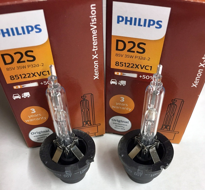 PHILIPS X-treme VISION +50% 5000K D2S HID XENON BULBS GERMANY