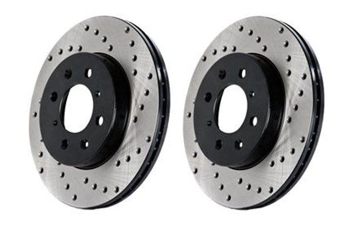Stop Tech TL/TSX/ACCORD/CL (STD Caliber - automatic) / Cross Drilled Left Front Rotor ONLY