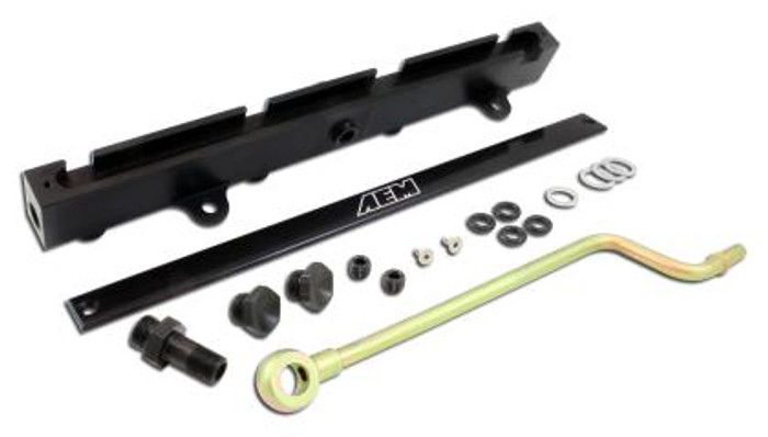AEM 02-06 RSX Base/TypeS Black Fuel Rail