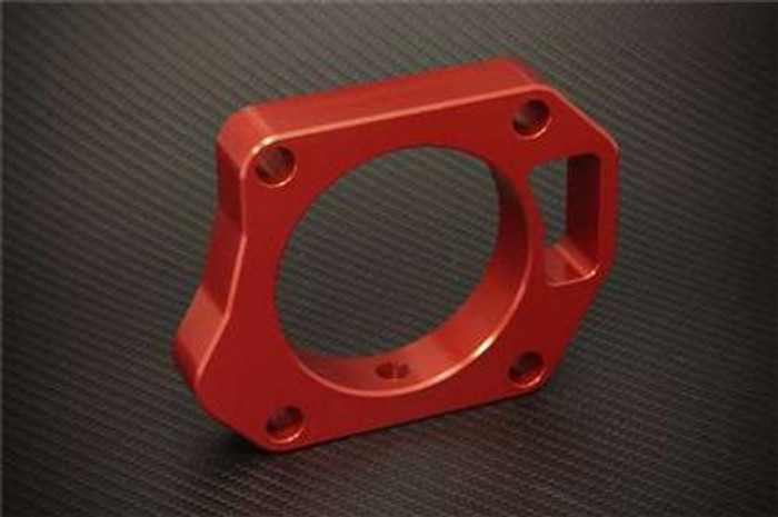 Torque Solution Throttle Body Spacer (Red): Honda Civic Si 2006-2011 Big Bore TB Adapter