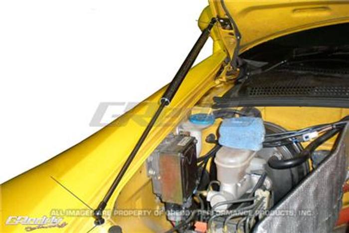 GReddy 00-09 Honda S200 AP1/AP2 Engine Hood Lifter Kit (Designed for OEM weight hoods.)