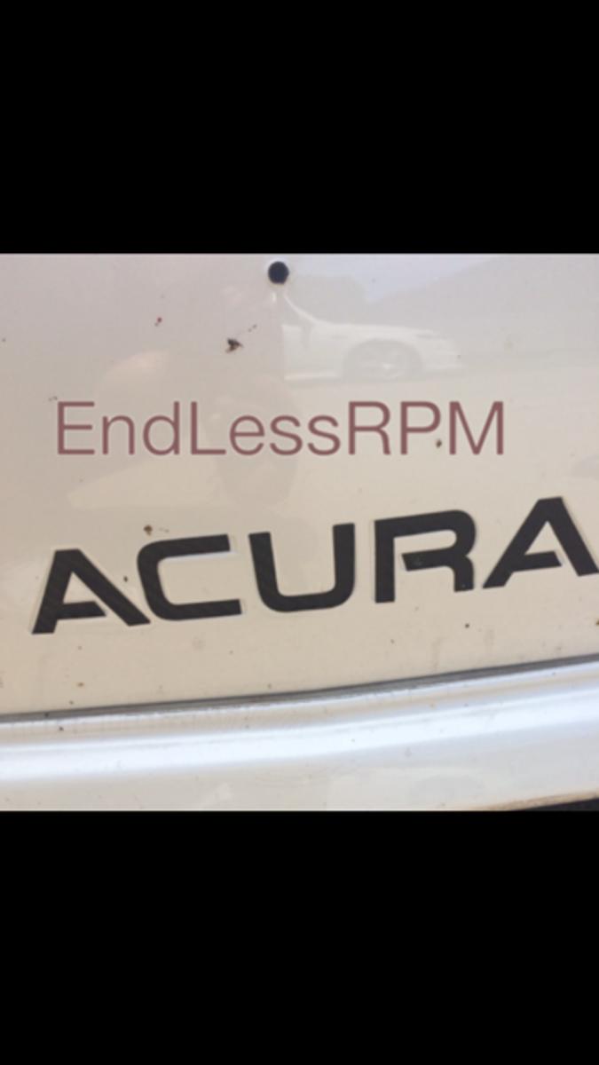 ACURA Front Bumper Decal (2004-2008 TL)