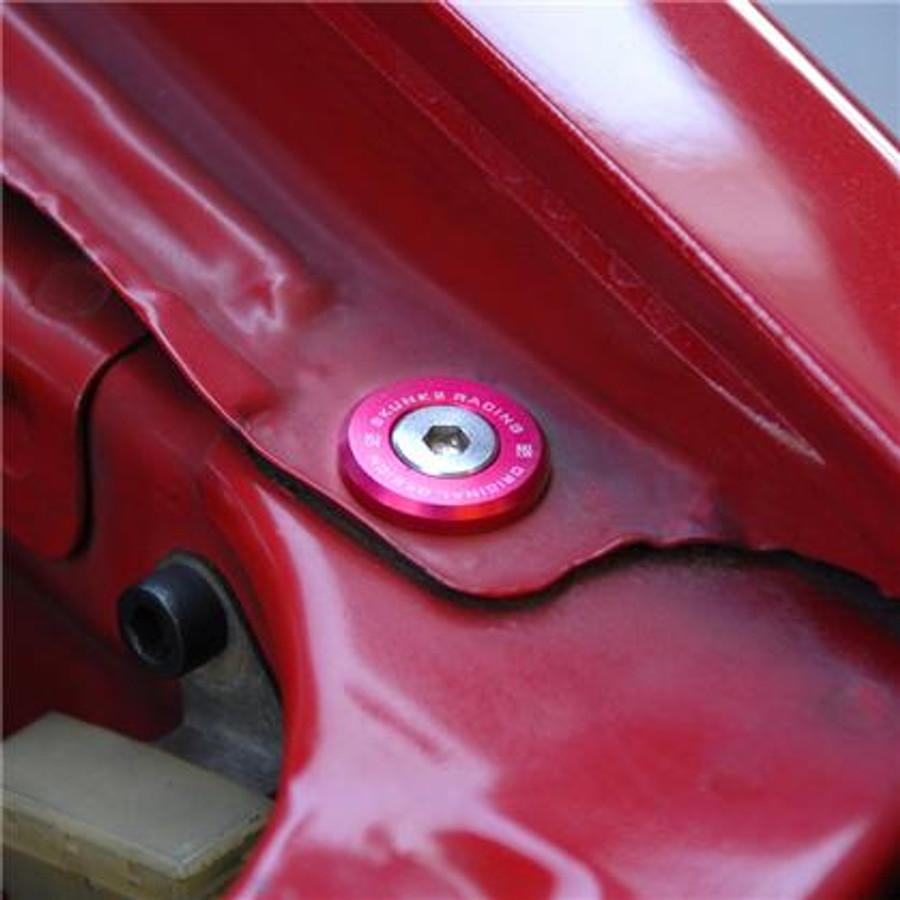 Skunk2 Large Fender Red Anodized Washer Kit (12 Pcs.)