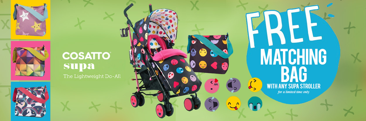 Cosatto Supa Stroller + Changing Bag