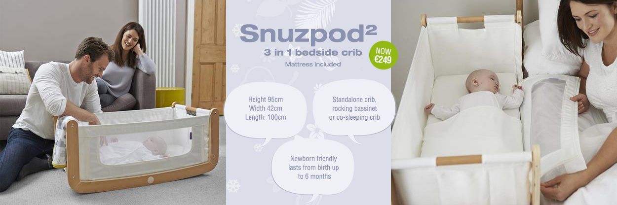 Snuzpods 2, 3 in 1 bedside crib now new price