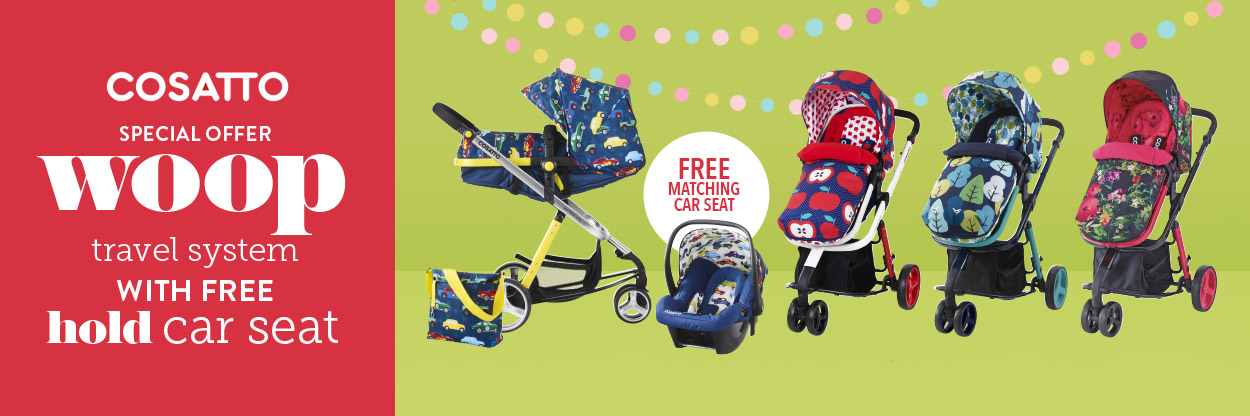 Cosatto Woop Travel Systems with a Free Car Seat