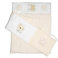 Baby Elegance Star Ted Quilt & Bumper Set Cot - Cream