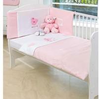 Baby Elegance Star Ted Quilt & Bumper Set Cot/Bed - Pink
