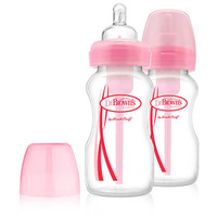 Dr Brown's Options 270 ml Bottles - Twin Pack - Pink