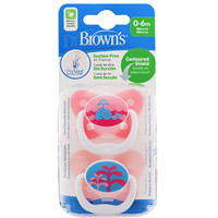Dr Brown's PreVent Pacifer 0-6 Months - Pink