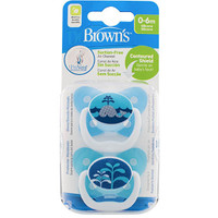 Dr Brown's PreVent Pacifer 0-6 Months - Blue