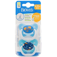 Dr Brown's PreVent Pacifer 6-12 Months - Blue