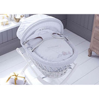 Sketchbook Baby Boy Wicker Moses Basket - White