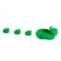 Baby Elegance Frog & Baby Frogs - Green