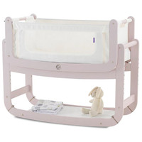 SnuzPod2 Bedside Crib Including Mattress - Blush