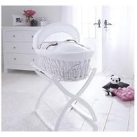 Izziwotnot Rocking Moses Basket Stand - White