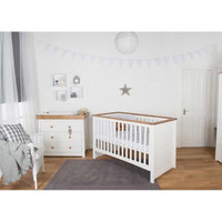 Littledale 3 Piece Set - White + FREE Spring Mattress
