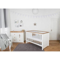 Littledale 2 Piece Set - White + FREE Spring Mattress
