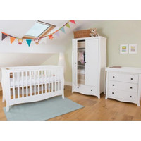 Little House Brampton 3 Piece Set - White + FREE Spring Mattress