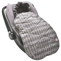 Lodger Mini Bunker Car Seat Footmuff Scandinavian Print - Coal