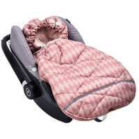 Lodger Mini Bunker Car Seat Footmuff Scandinavian Print - Blush