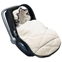 Lodger Mini Bunker Car Seat Footmuff - Off White