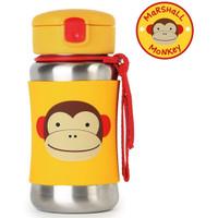 Skip*Hop Zoo Stainless Steel Straw Bottle - Monkey