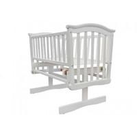 Baby Elegance Glider Crib + Mattress - White