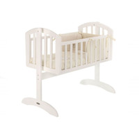 O Baby Sophie Swinging Crib - White
